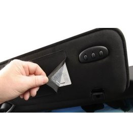 Interior 2014-17 Sunvisor Cover for Warning Label Black