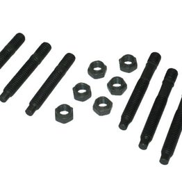 Exhaust 1959-80 Exhaust Manifold Stud with Top Lock Nuts Set of 6