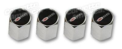 Wheels\Tires Z-06 Logo Valve Stem Caps Chrome