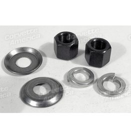 Suspension 1963-82 Corvette Shock Nut Kit Rear Lower Mount 6 Piece