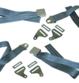 Interior 1958-62 Seat Belts Replacement with Hambone Retainers