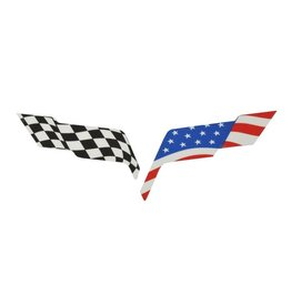Accessories C6 Emblem Overlay American Flag