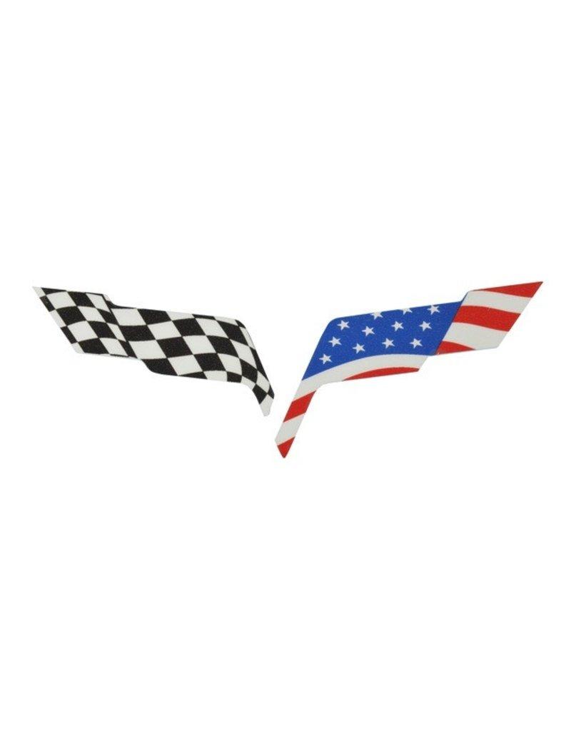 Accessories C6 Emblem Overlay American Flag