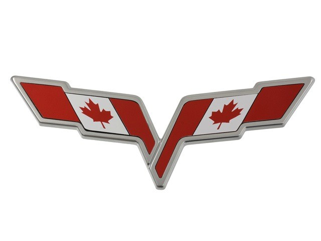 Accessories C6 Emblem Overlay Canadian Flag