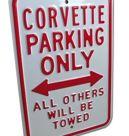 """Accessories Corvette Parking Only Sign 12""""X18"""""""