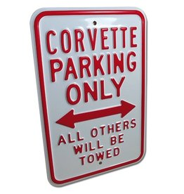"Accessories Corvette Parking Only Sign 12""X18"""