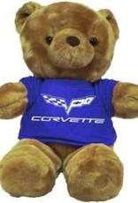 Collectibles Corvette Plush Bear with C6 Blue T-Shirt