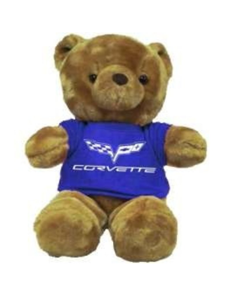 Collectibles Corvette Plush Bear with C6 Blue T-Shirt