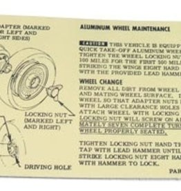 Books\Manuals 1964-66 Knock Off Wheel Instruction Card