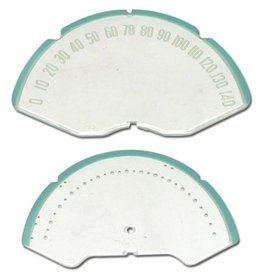 Interior 1953-57 Speedometer Face Lens with Numbers 2 Piece Set