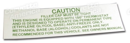 Books\Manuals 1963L-64E Radiator Caution Decal