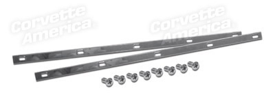 Weatherstrip 1956-58 Convertible Top Header Weatherstrip Retainer with Screws
