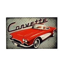 "Collectibles 1961 Corvette Metal Sign 10' X 16"""
