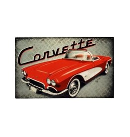 Collectibles 1961 Corvette Metal Sign 10' X 16""