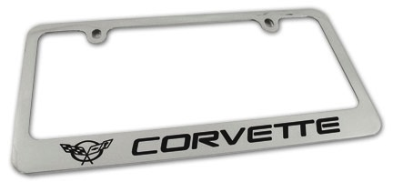 Accessories C5 License Plate Frame Chrome
