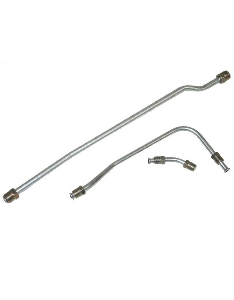 Fuel\Air 1965 Fuel Line Pump to Carb 396/425hp 3 Piece Set Stainless Steel