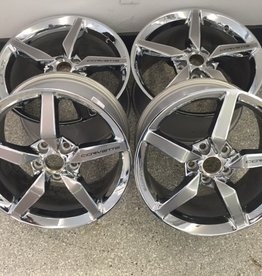 "Consignment C7 Chrome Wheels Set of 4 2-18""X8.5"" and 19""X10"" W/O Caps and Lug Nuts"