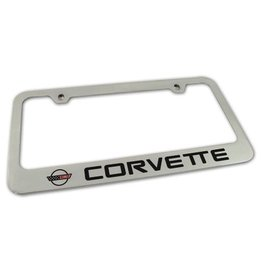 Accessories C4 License Plate Frame Chrome