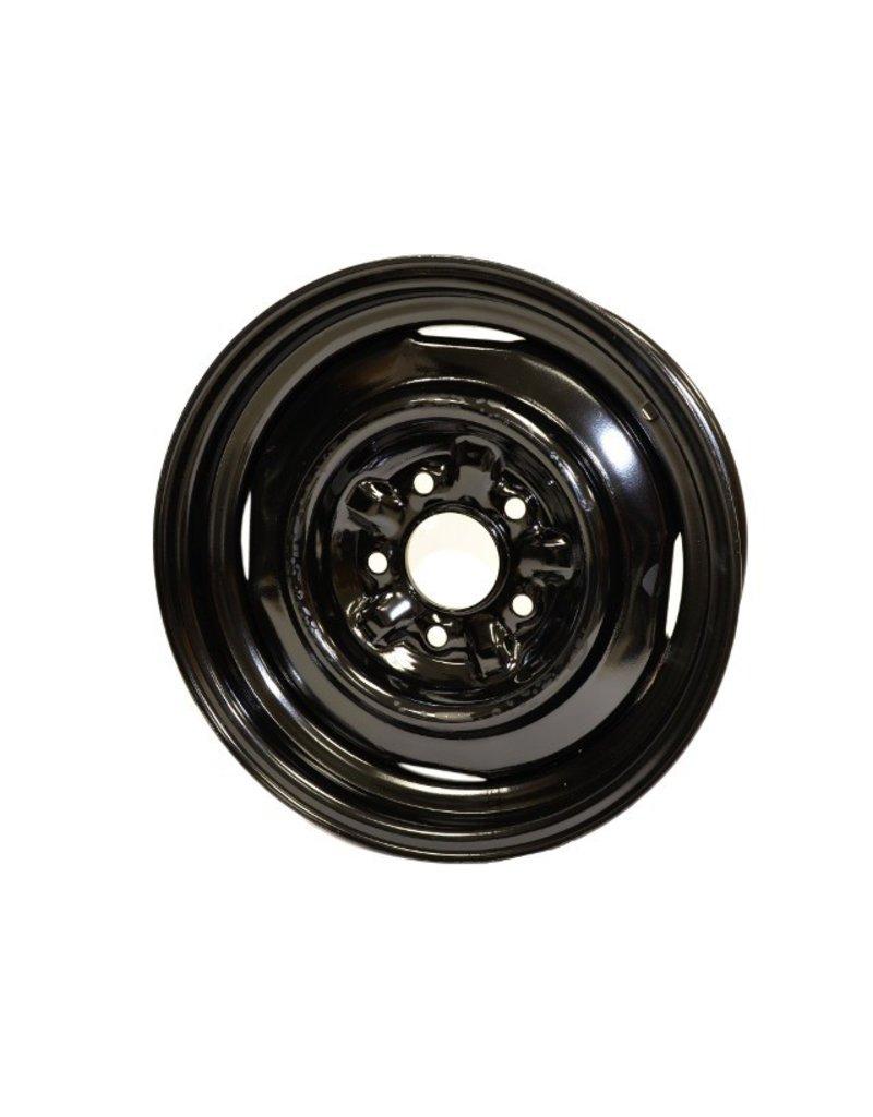 """Wheels\Tires 1965-66 Steel Wheel 5X5.5"""" Black"""