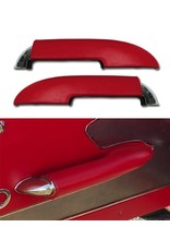 Interior 1959-61 Armrests with Chrome End Red Pair