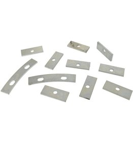 Body 1953-57 Grille Oval Mounting Retainer Plate 11 Piece Set