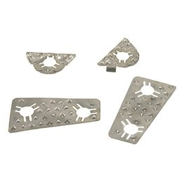 Body 1956-62 Door Striker Anti Skid Plate 4 Piece Set