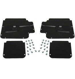 Body 1959-61 Door Access Plates Set of 4 with Fasteners