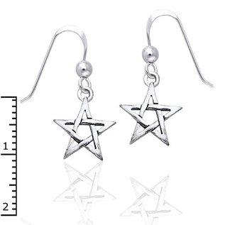Hex Small Pentacle Earrings