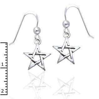 Hex Small Pentacle Earrings