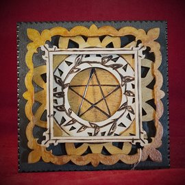 Hex Pentagram Plaque, Square