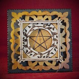 Hex Pentagram Plaque, Square