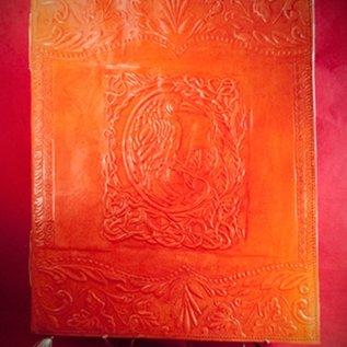 Hex Large Raven Journal in Orange