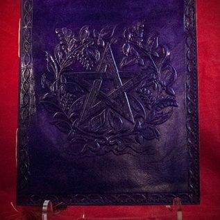 Hex Small Herbal Pentagram Journal in Purple