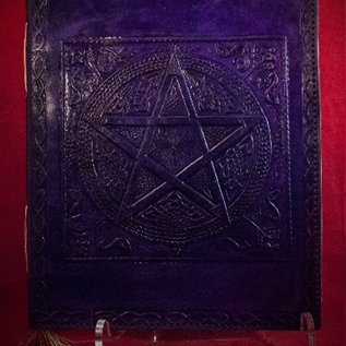 Hex Small Pentacle in Square Journal in Purple