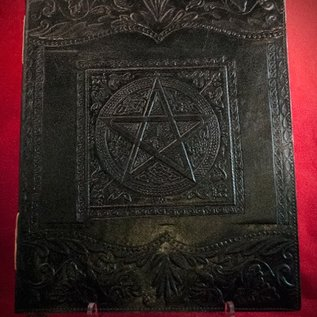Hex Large Pentacle in Square Journal in Black