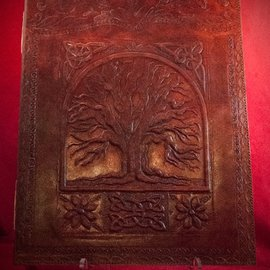 Hex Large Tree of Life Journal in Brown