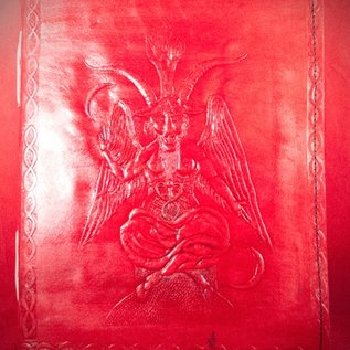 Hex Small Baphomet Journal in Red