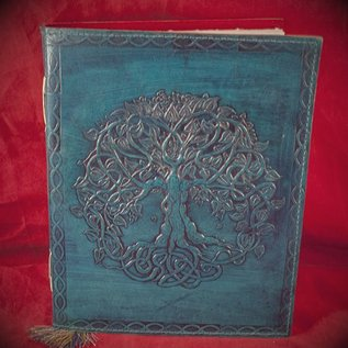 Hex Small Detailed Celtic Knot Tree Journal in Blue