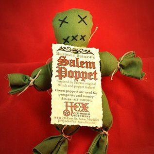 Hex Bridget Bishop's Green Salem Poppet