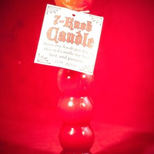 Hex Candle Seven Knob Red