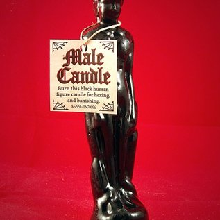 Hex Black Male Image Candle
