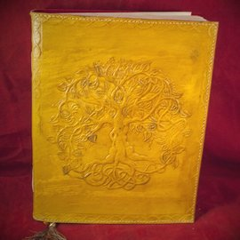 Hex Small Detailed Celtic Knot Tree Journal in Yellow