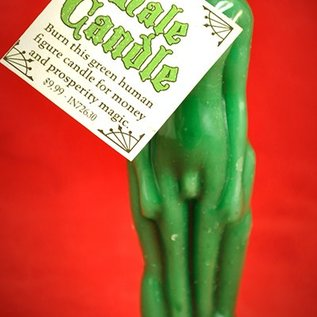 Hex Green Male Image Candle