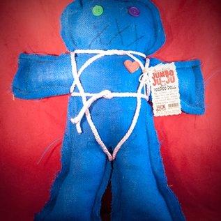 Hex Mama Kyri's Jumbo Ju-Ju Burlap Voodoo Doll in Blue