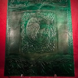 Hex Large Raven Journal in Green