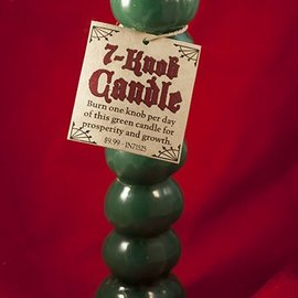 Hex Candle Seven Knob Green