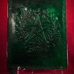 Hex Small Herbal Pentagram Journal in Green