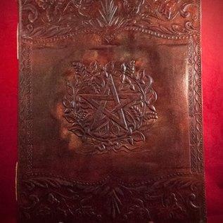 Hex Small Herbal Pentagram Journal in Brown