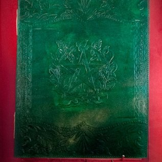 Hex Large Herbal Pentagram Journal in Green
