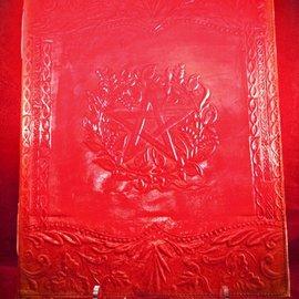 Hex Large Herbal Pentagram Journal in Red